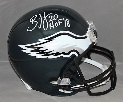 ed04117e249 Brian Dawkins Philadelphia Eagles Autographed HOF Inscription Replica  Helmet.