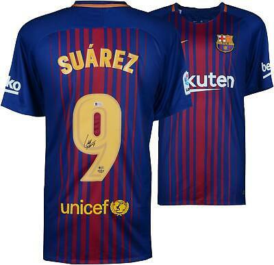 57b1eb689a0 Luis Suarez FC Barcelona Autographed Nike Football Soccer Jersey ...