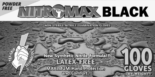 Nitromax Black Nitrile Gloves