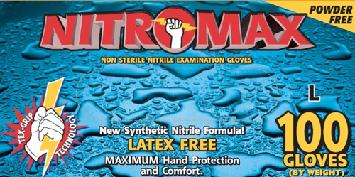 Nitromax Blue Nitrile Gloves