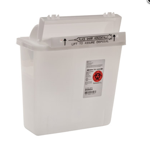 5 Quart Sharp-Safety Safety Container   Counterbalance or Horizontal Lid