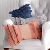 Peri Fringe Throw Pillow Grey~2A21080YGY
