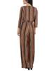 3/4 Sleeve Sash Belt Jumpsuit~Golden Luxetch*MITU6919