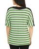 Dolman Sleeve V Neck Top~Green Diskyline*MITU6925