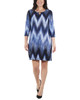 Striped Keyhole Shift Dress~Navy Ligia*MNKD0444