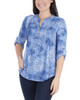 Roll Tab Pleated Front Top~Blue Dustpetal*MNKU2028