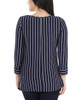 Striped Side Tie Round Neck Top~Navy Thin Strp*MRSU1795