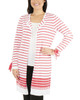 Tie Sleeve Striped Open Front Cardigan~Kaylee*MSSR1445