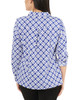 Geometric Roll Tab Button Up Blouse~Surf Iconic*MSTB1211
