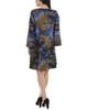 Petite Bell Sleeve Crochet Trim Dress~Ocean Thenaria*PITD3174