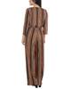 Petite 3/4 Sleeve Sash Belt Jumpsuit~Golden Luxetch*PITU6919