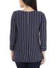 Petite Striped Side Tie Round Neck Top~Navy Thin Strp*PRSU1795
