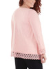Plus Size Open Front Lace Trim Cardigan~Easy Peach*WHAR0251