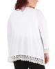 Plus Size Open Front Lace Trim Cardigan~White*WHAR0251