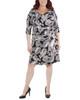 Plus Size Paisley Cross Ruching Dress~Black Westpais*WITD3696