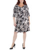 Plus Size Paisley Cross Ruching Dress~Black Westpais*WITD3696