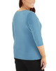 Plus Size 3/4 Sleeve Twist and Tie Front Top~Tealocean*WITU6892