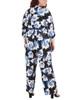 Plus Size Floral Sash Belt Jumpsuit~Black Scabiosa*WITU6920