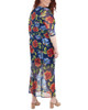Plus Size Floral Double Slit Maxi Dress~Navy Penascoflor*WMED0195