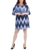 Plus Size Striped Keyhole Shift Dress~Navy Ligia*WNKD0444