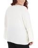 Plus Size Bell Sleeve Scoop Neck Top~Ivory Closefan*WNKU1883