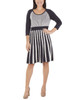 Striped Scoop Neck Flare Dress~Alexandra*MSVD0419