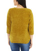3/4 Sleeve V Neck Solid Sweater~Autumn Yellow*MSVU1473
