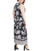 Plus Size Wrap Front Maxi Dress with Hardware Belt Trim~Black Stripepais*WITD3766