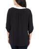 Color Block Push Tab Top~Black Yingyang*MITU6821
