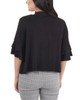 Open Front Double Bell Sleeve Shrug~Black*MRSR0245