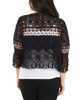 Open Front Allover Crochet Shrug~Black*MSSR1452