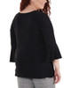 Plus Size Bell Sleeve Knot Detail Top~Black*WITU7029