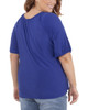 Plus Size Short Sleeve Scoop Neck Peasant Top~Blue Angelfish*WITU7070