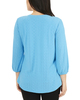 Laser Cut Y Neck Top~Blue Colorstripe*MNKU2021