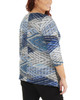 Plus Size 3/4 Sleeve V Neck Top With Sharkbite Hem~Blue Junjinight*WHAU0398