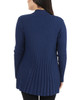Petite Long Sleeve Open Front Textured Cardigan~Egyptian Blue*PSVR1156