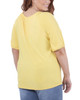 Plus Size Short Sleeve Scoop Neck Peasant Top~Freesia*WITU7070