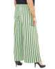 Plus Size Striped Tie Front Pants~Green Skystripe*WITP0706