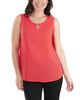 Sleeveless Keyhole Tank with Hardware Trim~Hibiscus*MDOU1893