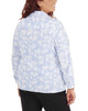 Plus Size 3/4 Sleeve Y Neck Allover Print Top~Lilas Dotechball*WSTB1346