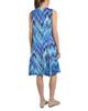 Sleeveless V Neck Godet Dress with Necklace~Lolita Blue*MITD3473