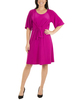 Petite Raglan Elbow Sleeve Dress~Magenta*PITD3675