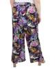 Plus Size Elastic Waist Tassel Tie Palazzo Pants~Navy Flowerclub*WDOP0138
