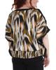 Plus Size Slit Sleeves Smocked Hemline Poncho~Olive Harborwall*WDOU1894