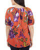 Short Sleeve Scoop Neck Peasant Top~Orange Canvasgarden*MITU7071