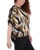 Plus Size Slit Sleeves Smocked Hemline Poncho~Orange Wildbamboo*WDOU1894