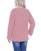 Cuffed Long Sleeve Hi Lo Chenille Pullover~Pewter Heather*MSVU1472