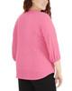 Plus Size 3/4 Sleeve Y Neck Mandain Collar Top~Pink Colorstripe*WNKU2021