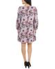 Petite Long Sleeve V Neck Lattice Dress~Pink Neworleans*PHAD0035