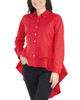 Extreme High-Low Peplum Blouse~Racing Red*MPLB0295